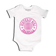 Birthday Number Pink - Bodysuit Personalised for Baby