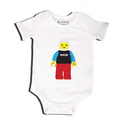 Block Man - Bodysuit Personalised for Baby