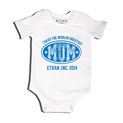 Blue - Bodysuit Personalised for Baby