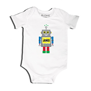 Blue Robot - Bodysuit Personalised for Baby