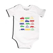 Car Bike Wagon - Bodysuit Personalised for Baby