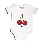 Cherries - Bodysuit Personalised for Baby