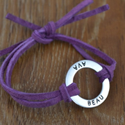 Handstamped Personalised Bracelet - Eternity on my wrist (Small)