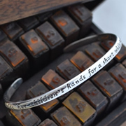 Handstamped Personalised Bracelet - Hold My Hand