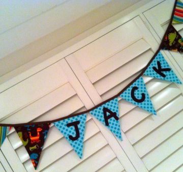 Bunting - CUSTOM banner with PERSONALISATION OF NAME/LETTERING REQUIRED - you choose your colour and theme