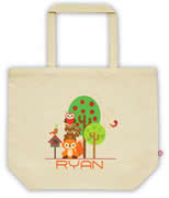 Carry Bag / Canvas Tote Bag Personalised for kids  - StarCarry Bag / Canvas Tote Bag Personalised for kids  - Animal Stack