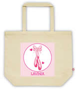Carry Bag / Canvas Tote Bag Personalised for kids  - Ballerina