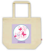 Carry Bag / Canvas Tote Bag Personalised for kids  - Butterflies
