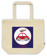 Carry Bag / Canvas Tote Bag Personalised for kids  - Car