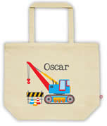 Carry Bag / Canvas Tote Bag Personalised for kids  - Crane