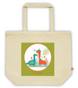 Carry Bag / Canvas Tote Bag Personalised for kids  - StarCarry Bag / Canvas Tote Bag Personalised for kids  - Dinosaurs