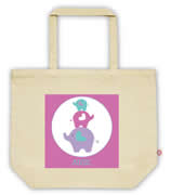 Carry Bag / Canvas Tote Bag Personalised for kids  - Elehant Girls
