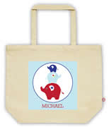 Carry Bag / Canvas Tote Bag Personalised for kids  - Elephant Boys