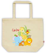 Carry Bag / Canvas Tote Bag Personalised for kids  - Jungle