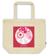 Carry Bag / Canvas Tote Bag Personalised for kids  - Petals