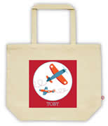 Carry Bag / Canvas Tote Bag Personalised for kids  - Planes