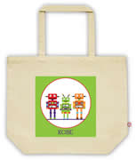 Carry Bag / Canvas Tote Bag Personalised for kids  - Robots
