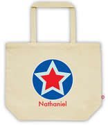 Carry Bag / Canvas Tote Bag Personalised for kids  - Star