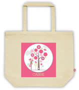 Carry Bag / Canvas Tote Bag Personalised for kids  - Tree