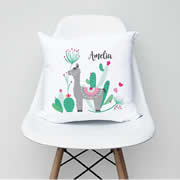 .Personalised Cushion for kids - Alpaca Girls