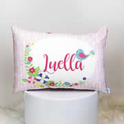 .Personalised Cotton Cushion for kids  - Blue Bird