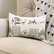 .Personalised Cushion for kids - Flying Above Design