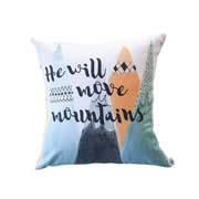 .Personalised Cushion for kids - Boys- He Will Move Mountains