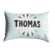 .Personalised Cushion for kids - Lightning Bolt
