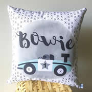 .Personalised Cushion for kids - Boys- Racing Car