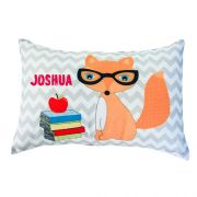 .Personalised Cushion for kids - Foxy Boy Design