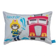 .Personalised Cushion for kids - Funbear Fireman Design
