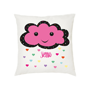 .Personalised Cushion for kids - Happy cloud