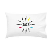 .Personalised Kids Pillowcase Lightening Bolt