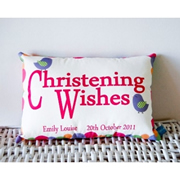 Personalised Christening Cushion for Girls - BIRD Design