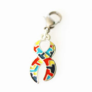 Autism Awareness Ribbon Dangle for Floating Memory Locket