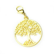 Gold Tone Tree of Life Dangle for Floating Memory Locket