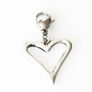 Open Heart Dangle for Floating Memory Locket