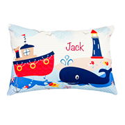.Personalised Cushion for kids -  Nautical Design