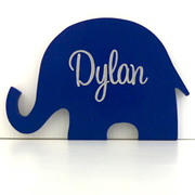 Personalised Engraved Wooden Freestanding Shapes  - Elephant