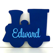 Personalised Engraved Wooden Freestanding Shapes  - Train
