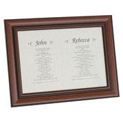 Dual Name History - Personalised Frame