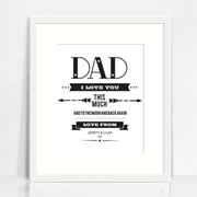 Personalised Wall Art Print - Fathers Day Print - I Love You This Much