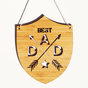 Personalised wooden bamboo wall hanging  - Best Dad Bamboo