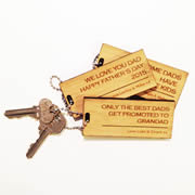 Personalised gift for Dad - Bamboo Keyring