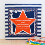 Personalised Inspirational Canvas for bedroom  - Bright Star Orange