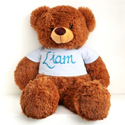 Personalised Teddy Edgar Blue - Hand Painted