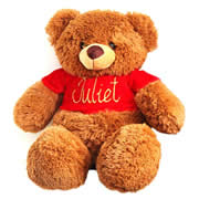 Personalised Teddy Noel Red - Hand Painted
