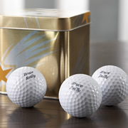 Golf Balls Personalised - For Dad or Mum