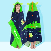 Crocodile - Personalised Hooded Towel for kids
