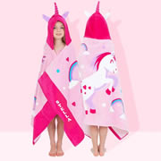 Unicorn - Personalised Hooded Towel for kids